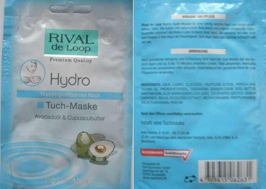 Rival de Loop Hydro Tuch-Maske mit Avocadoöl & Cupuacubutter