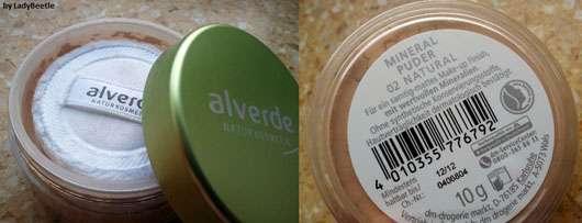 test puder alverde mineral puder farbe 02 natural testbericht von ladybeetle. Black Bedroom Furniture Sets. Home Design Ideas