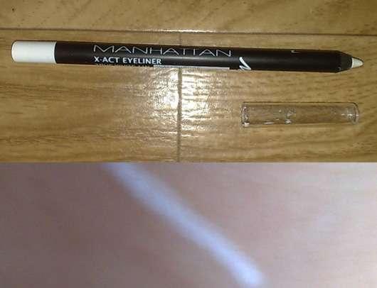 Manhattan X-Act Eyeliner Waterproof, Farbe: True White 11N