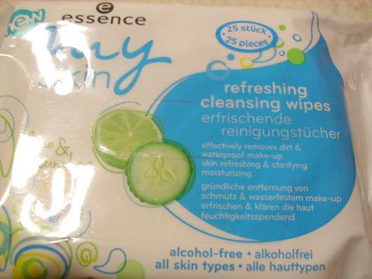essence my skin refreshing cleansing wipes