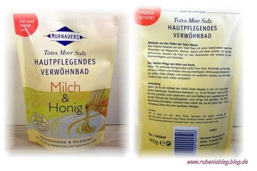 Murnauers Totes Meer Salz Hautpflegendes Verwöhnbad Milch und Honig