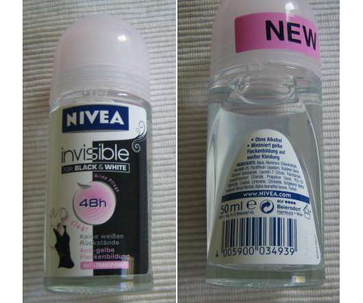 """NIVEA invisible for Black & White Deo Roll-On """"Clear"""""""