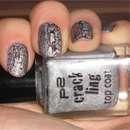 p2 crackling top coat, Farbe: 020 silver blast