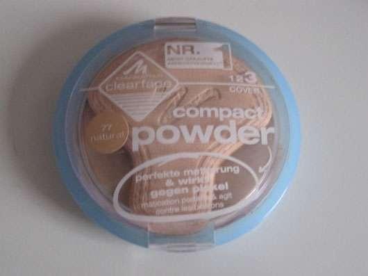 test puder manhattan clearface compact powder nuance 77 natural testbericht von maus. Black Bedroom Furniture Sets. Home Design Ideas