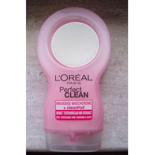 L'Oréal Paris Perfect Clean Moussige Waschcreme + cleanPod (für trockene und sensible Haut)