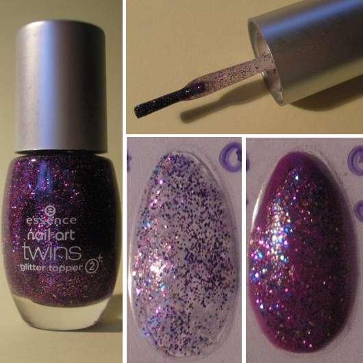 essence nail art twins glitter topper, Farbe: 08 Troy