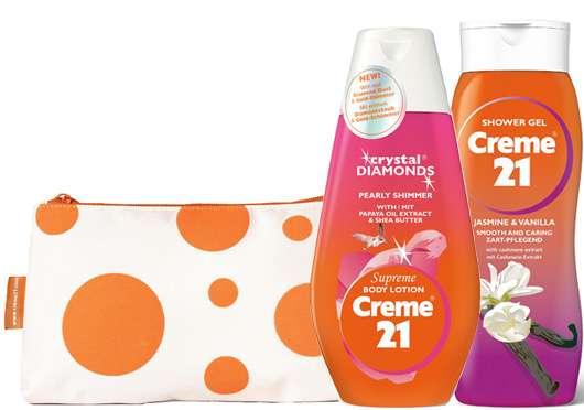 Creme 21-Clutches mit tollen Produkten zu gewinnen