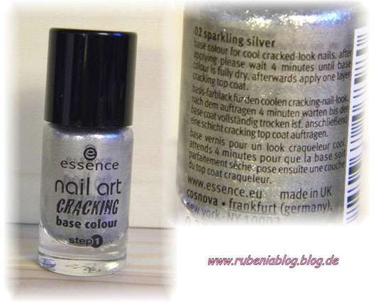 essence nail art cracking base colour, Farbe: 02 sparkling silver