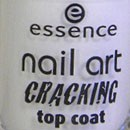 essence nail art crackling top coat, Farbe: 02 crack me! white