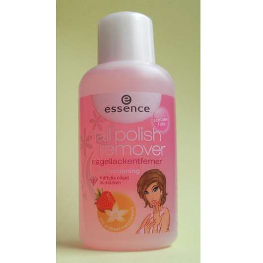 essence nail polish remover Erdbeer-Vanille