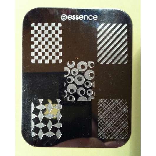 essence nail art Stampingschablone, Design: Geometrie