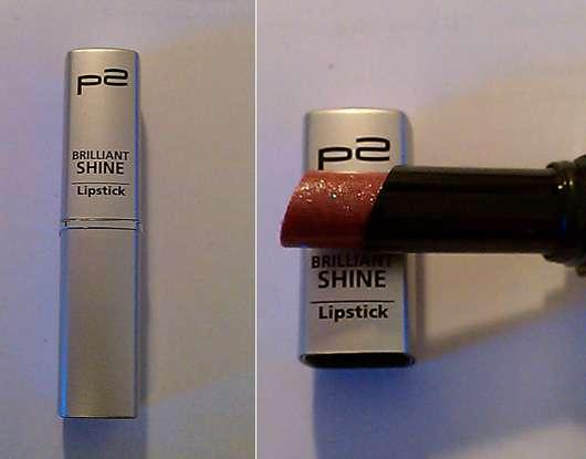 p2 brilliant shine lipstick, Farbe: 040 money, money