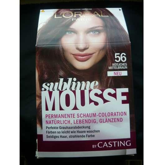 L'Oréal Paris Sublime Mousse Permanente Schaum-Coloration, Farbe: 56 Rötliches Mittelbraun