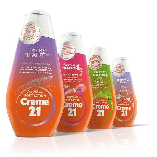 Vier neue Creme 21 Supreme Body Lotions