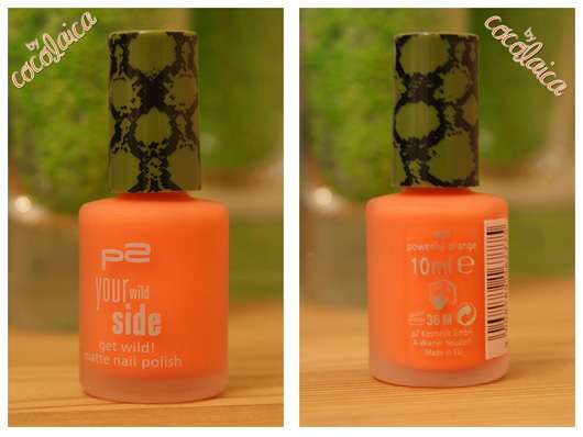 "p2 your wild side get wild! matte nail polish, Farbe: 020 powerful orange (""your wild side"" LE)"