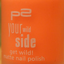 """p2 your wild side get wild! matte nail polish, Farbe: 020 powerful orange (""""your wild side"""" LE)"""