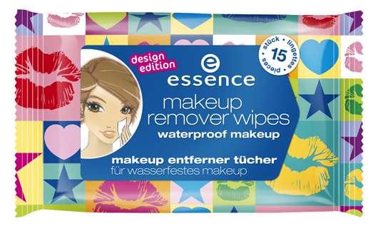 """essence make-up remover wipes"" in der Design Edition"