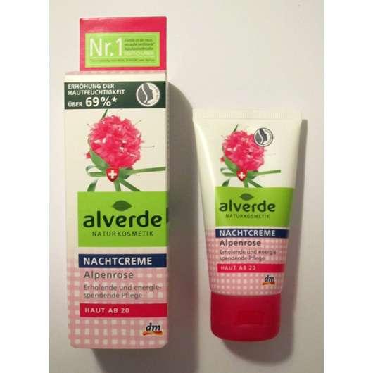 "alverde Nachtcreme ""Alpenrose"" (Haut ab 20)"