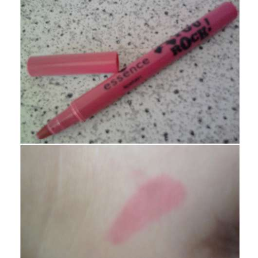 """essence lipstain, Farbe: 01 LET ME IN ROSE (""""YOU ROCK"""" LE)"""