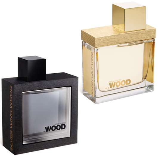 DSQUARED² She Wood Golden Light Wood & He Wood Silver Wind Wood