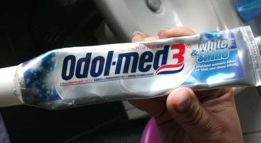 Ich benutze seit längerem die odol med3 white shine zahnpasta