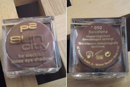 p2 sun city be electric! loose eye shadow, Farbe: 050 Barcelona (Limited Edition)
