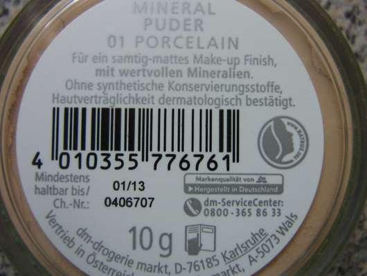 test puder alverde mineral puder nuance 01 porcelain testbericht von olja. Black Bedroom Furniture Sets. Home Design Ideas
