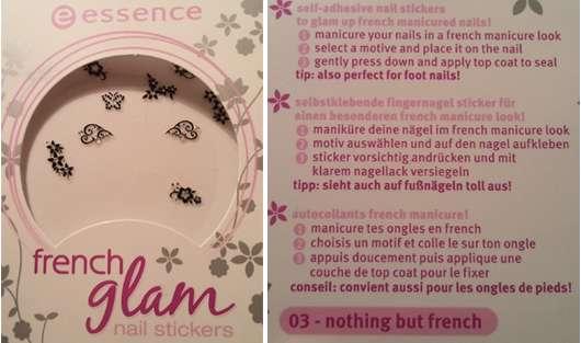 Test Für Die Nägel Essence French Glam Nail Sticker 03