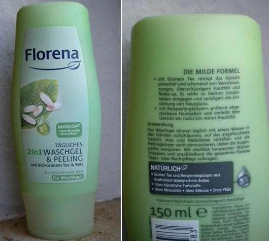 Florena Tägliches 2in1 Waschgel & Peeling für Mischhaut