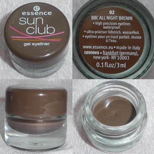essence sun club gel eyeliner, Farbe: 02 BBC All Night Brown (Bondi Beach LE)