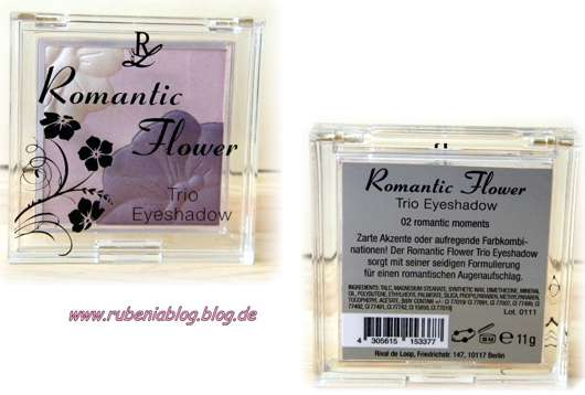 Rival de Loop Romantic Flower Trio Eyeshadow, Farbe: 02 romantic moments (Limited Edition)