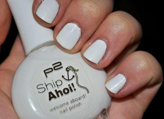 p2 ship ahoi nail polish, Farbe: 010 pure white (Limited Edition)