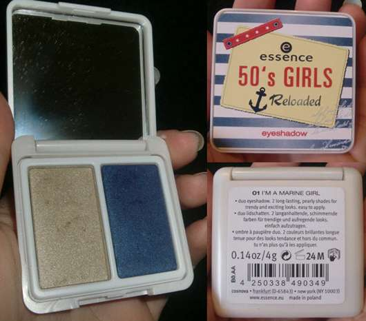 essence 50's girls reloaded eyeshadow, Farbe: 01 I'm a marine girl (Limited Edition)