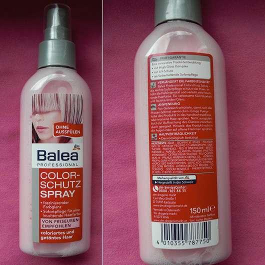 Test Leave In Produkt Balea Professional Sonnenschutz Spray