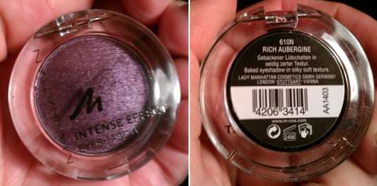 Manhattan Intense Effect Eyeshadow, Farbe: 610N Rich Aubergine