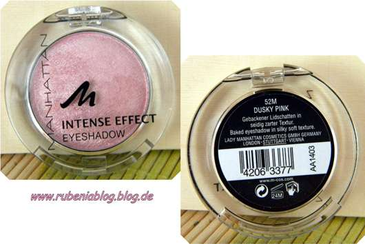 Manhattan Intense Effect Eyeshadow, Farbe: 52M Dusky Pink