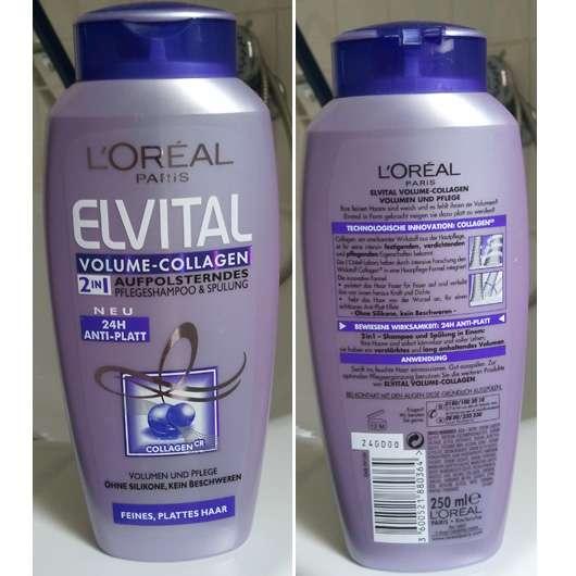 test shampoo l or al elvital volume collagen 2in1. Black Bedroom Furniture Sets. Home Design Ideas