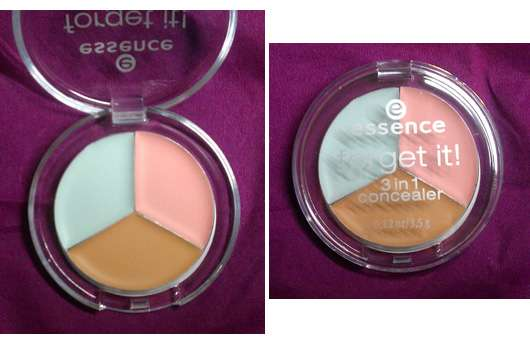 essence forget it! 3in1 concealer