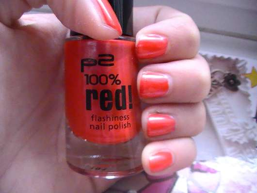 p2 100% red! flashiness nail polish, Farbe: 020 magnificent (Limited Edition)