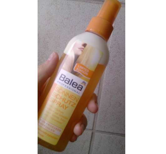 Test Hitzeschutzprodukte Balea Professional Sonnen Schutz Spray