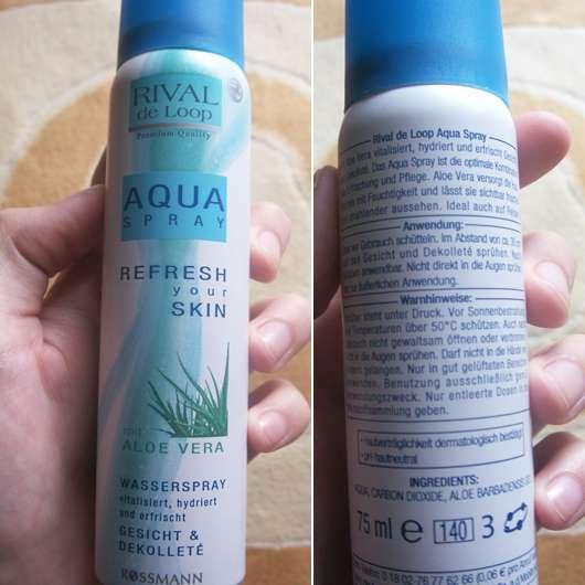 Rival de Loop Aqua Spray Refresh Your Skin mit Aloe Vera