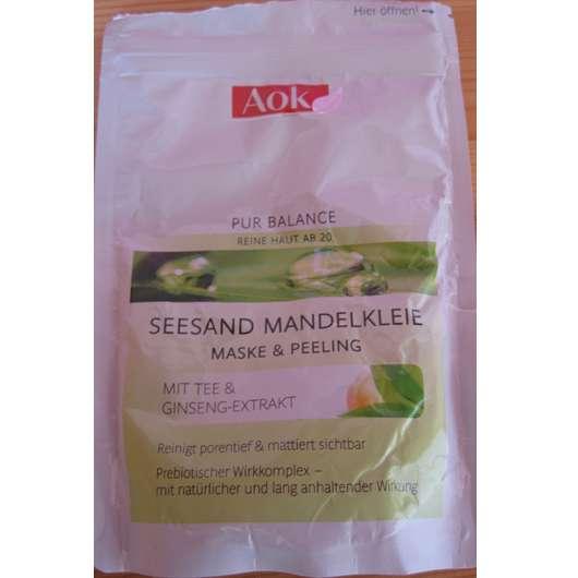 AOK Pur Balance Seesand Mandelkleie Maske & Peeling