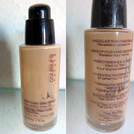Yves Rocher Couleurs Nature Flawless Finish Fluid Foundation, Nuance: Rosé