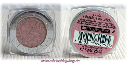 L'Oréal Paris Color Indefectible Eyeshadow, Farbe: 004 Forever Pink