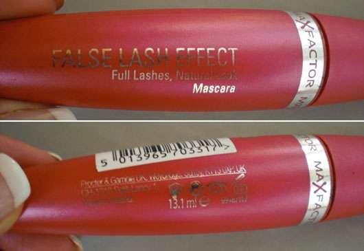 Max Factor False Lash Effect Full Lashes, Natural Look Mascara