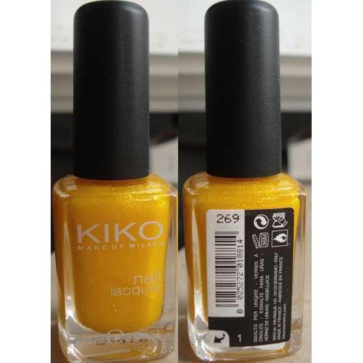KIKO Nail Lacquer, Farbe: 269 Giallo Microglitter
