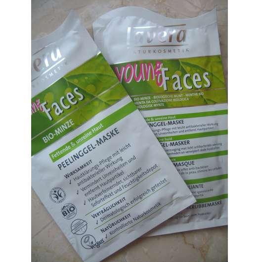 test maske lavera young faces bio minze peelinggel maske f r fettende unreine haut. Black Bedroom Furniture Sets. Home Design Ideas