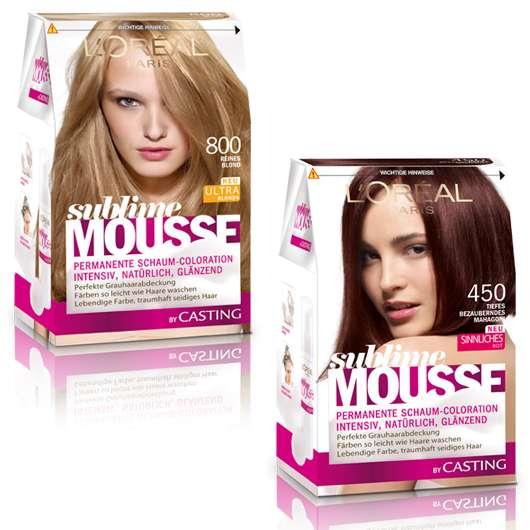 SUBLIME MOUSSE: Schaumcolorationen in strahlendem Blond & sinnlichem Rot