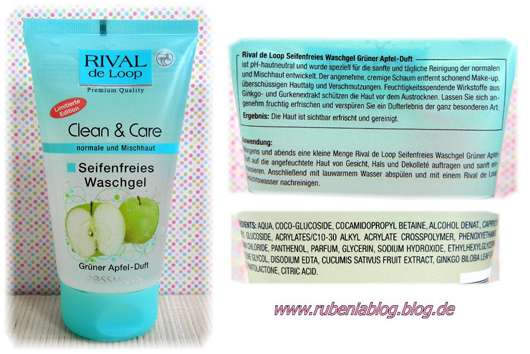 Rival de Loop Clean & Care Seifenfreies Waschgel Grüner Apfel Duft (Limited Edition)