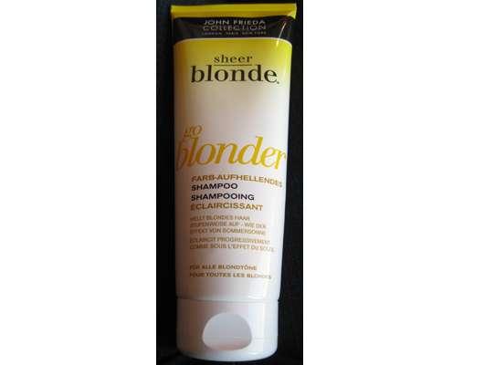 test shampoo john frieda sheer blonde go blonder farb aufhellendes shampoo testbericht von. Black Bedroom Furniture Sets. Home Design Ideas